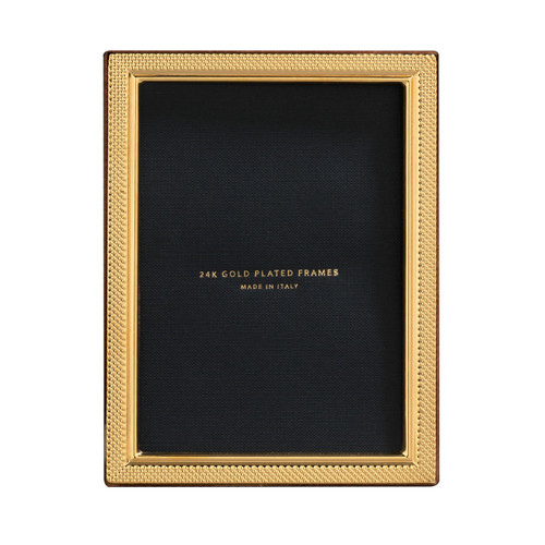 Cunill Droplets 5 x 7 Inch Picture Frame - 24k Gold Plated 0.5 Microns