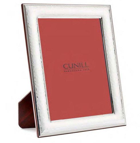 Cunill Hammered Bead 8 x 10 Inch Picture Frame - Sterling Silver