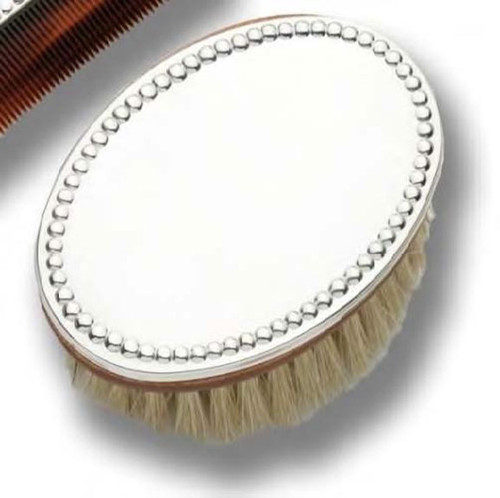 Cunill Pearls Baby Hairbrush - Sterling Silver