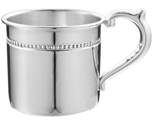 Cunill Pearls Sterling Baby Cup - H: 2 1/8 Inch x Dia: 2 3/8 Inch - Sterling Silver