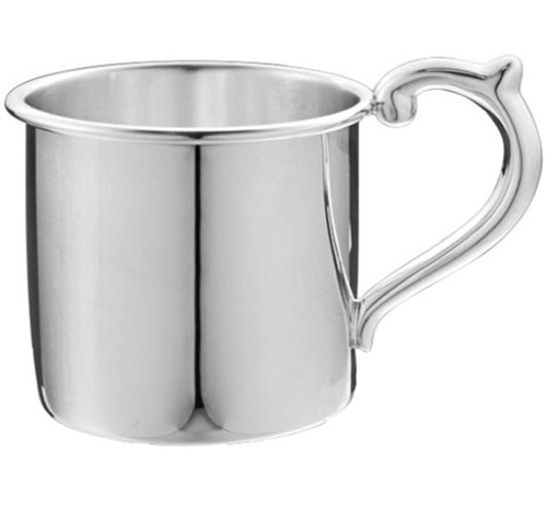 Cunill Plain Sterling Baby Cup - H: 2 1/8 Inch x Dia: 2 3/8 Inch - Sterling Silver