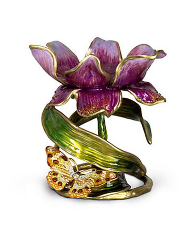 Jay Strongwater Aimee Flora Floral 7 Inch Pillar Candle Holder