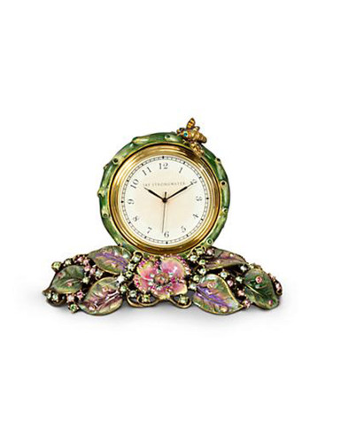 Jay Strongwater Mayfair Forest Leaf & Bee Clock