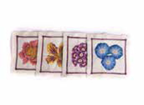 Jay Strongwater Flora Floral Cocktail Napkins Set of Four