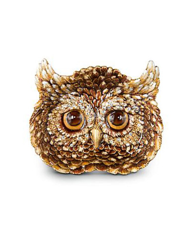 Jay Strongwater Fletcher Natural Owl Trinket Tray