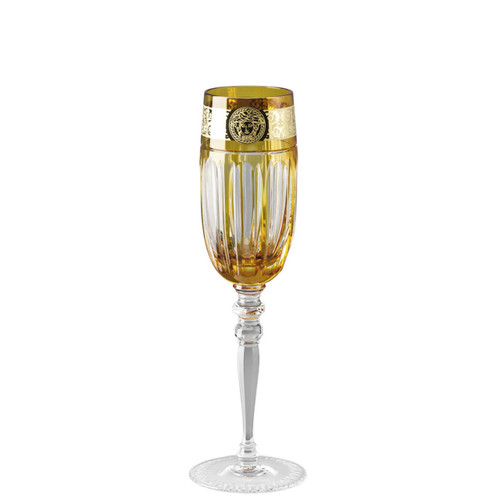 Versace Amber Medusa Gala Prestige Champagne Flute