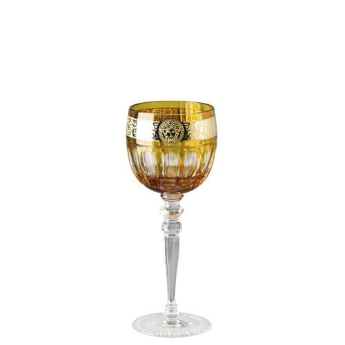 Versace Amber Medusa Gala Prestige White Wine Glass
