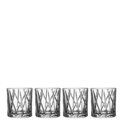 Orrefors City Old Fashioned Set Of 4