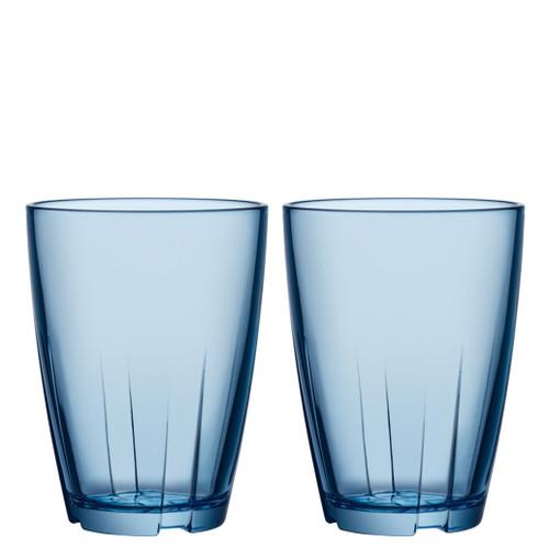 Kosta Boda Bruk Tumbler Water Blue Large Pair