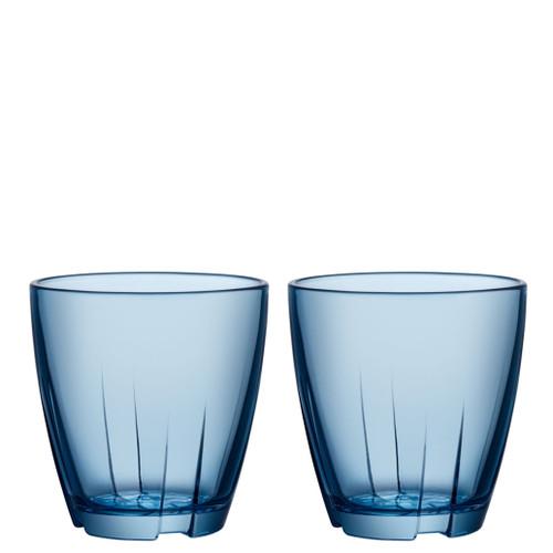 Kosta Boda Bruk Tumbler Water Blue Small Pair