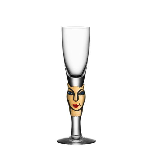Kosta Boda Open Minds Shot Glass 30Th Anniversary Black 14 Carat Gold