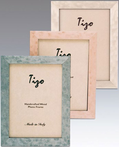 Tizo Deep Light Pink Wood Picture Frame 5 x 7 Inch
