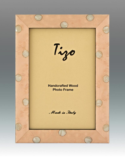 Tizo Cute Baby Pink Dots Wooden Picture Frame 4 x 6 Inch
