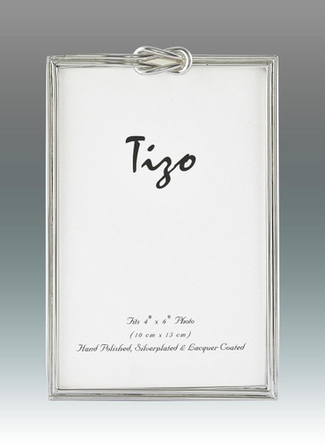 Tizo Love Knots Silver-plated Picture Frame 5 x 7 Inch