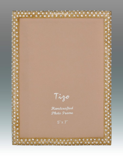 Tizo Shamoo Jeweled Gold Picture Frame 4 X 6 Inch MPN: RS710GL 46,
