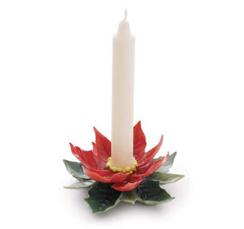 Franz Porcelain Candleholder Poinsettia FZ01989