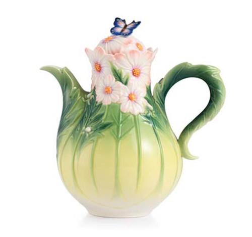 Franz Porcelain Teapot Cosmos Of Color FZ03043