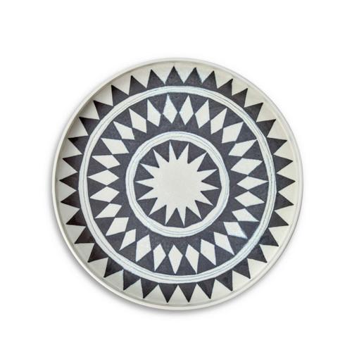 L'Objet Tribal Diamond Round Platter Medium TR102