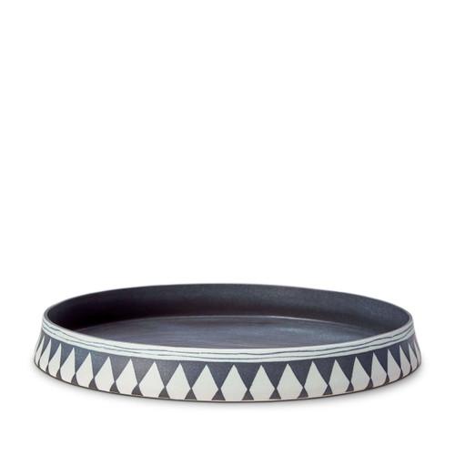 L'Objet Tribal Diamond Round Platter Large TR103