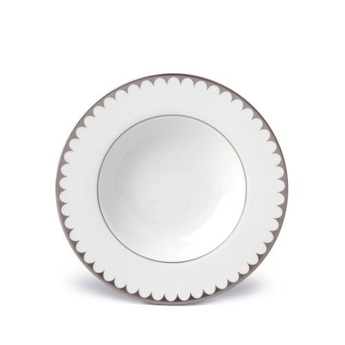 L'Objet Aegean Filet Soup Plate Platinum