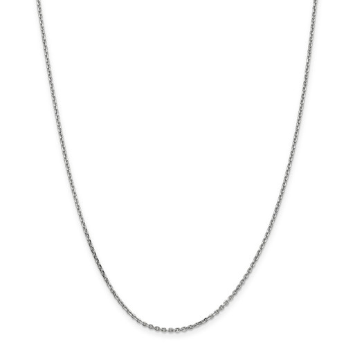 1.65mm Solid Diamond -cut Cable Chain Anklet 10k White Gold 10PE149-10