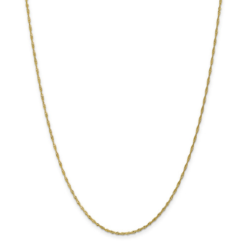 1.4mm Singapore Chain Anklet 10k Gold 10PE52-10