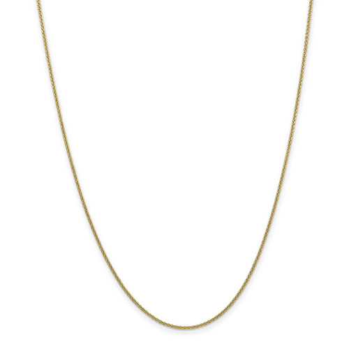 1.5mm Cable Chain Anklet 10k Gold 10PE54-10