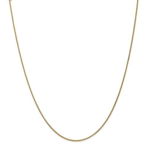 1.25mm Spiga Chain Anklet 10k Gold 10SPG030-10