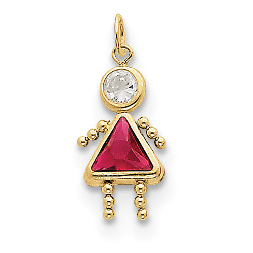 July Girl Birthstone Charm 10k Gold 10XCK168