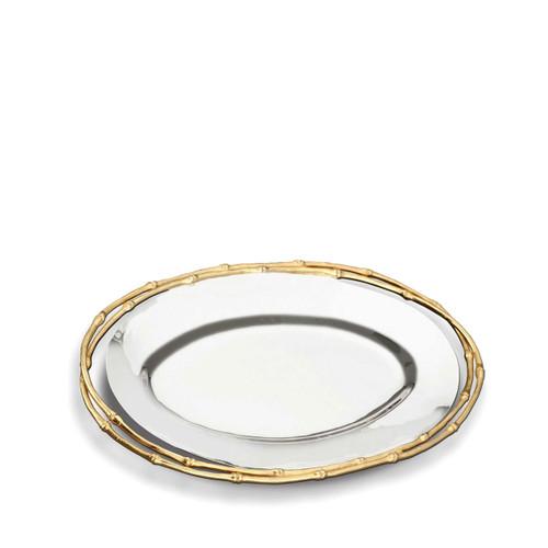 L'Objet Evoca Oval Platter Medium 24k Gold-Plated