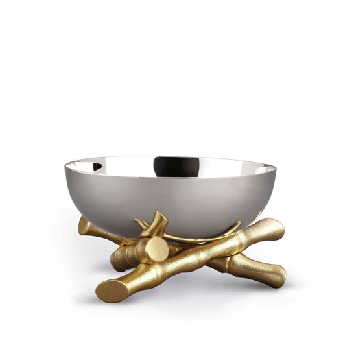 L'Objet Bambou Bowl Medium 24k Gold-Plated Stainless Steel