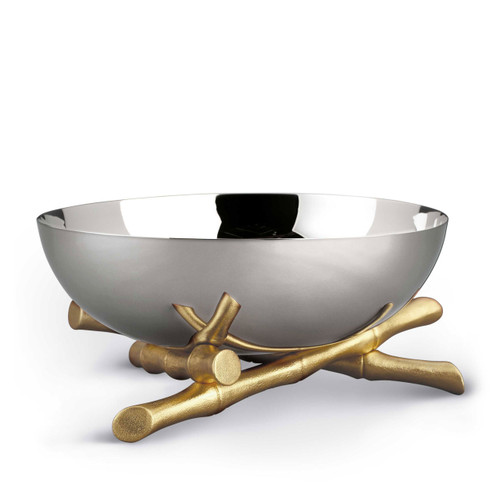 L'Objet Bambou Large Bowl 24k Gold-Plated Stainless Steel