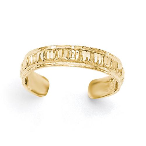 Diamond -cut Toe Ring 14k Gold Polished K5799