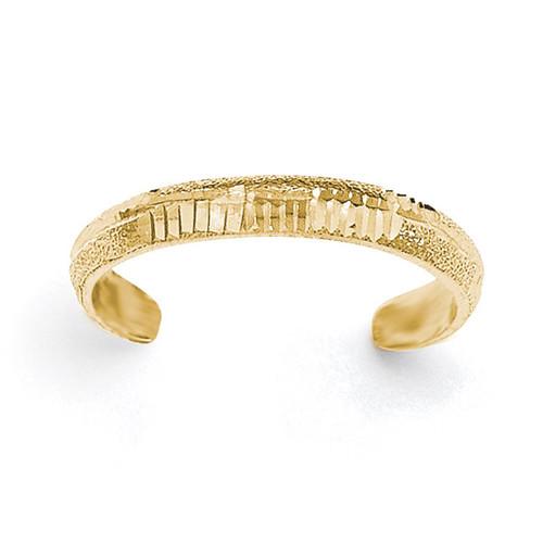 Diamond -cut Toe Ring 14k Gold Polished K5800