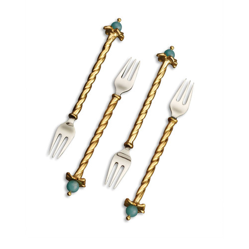L'Objet Fortuny Venise Cocktail Forks Set of Four