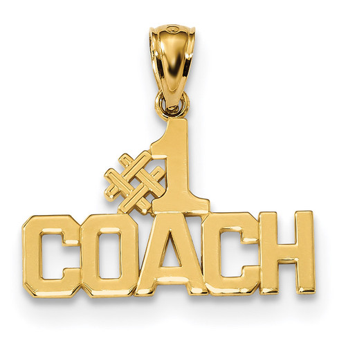 #1 Coach Pendant 14k Gold Polished K6142