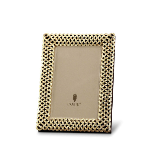 L'Objet Braid 4 x 6 Inch Gold Picture Frame