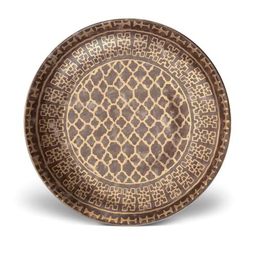 L'Objet Fortuny Round Platter Ashanti Grey MPN: LPF73