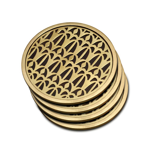 L'Objet Fortuny Coasters Venise Set of Four Table Accents