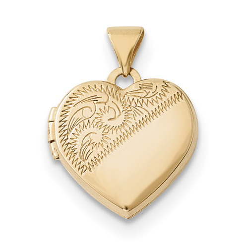 15mm Heart Locket 14k Gold XL694