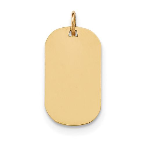 0.018 Gauge Engravable Dog Tag Disc Charm 14k Gold Plain XM550/18