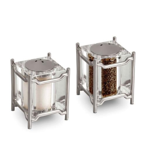 L'Objet Platinum Salt and Pepper Shaker Han Spice Jewels