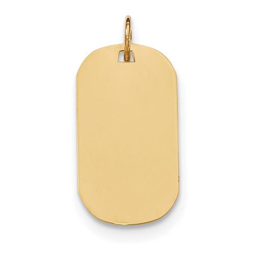 0.011 Gauge Engravable Dog Tag Disc Charm 14k Gold Plain XM551/11