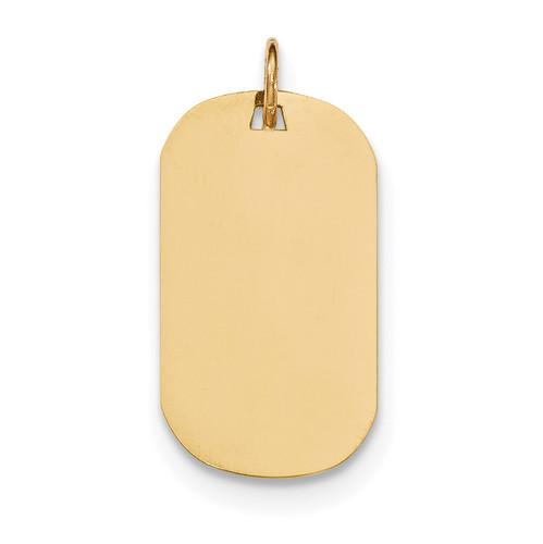 0.035 Gauge Engravable Dog Tag Disc Charm 14k Gold Plain XM552/35