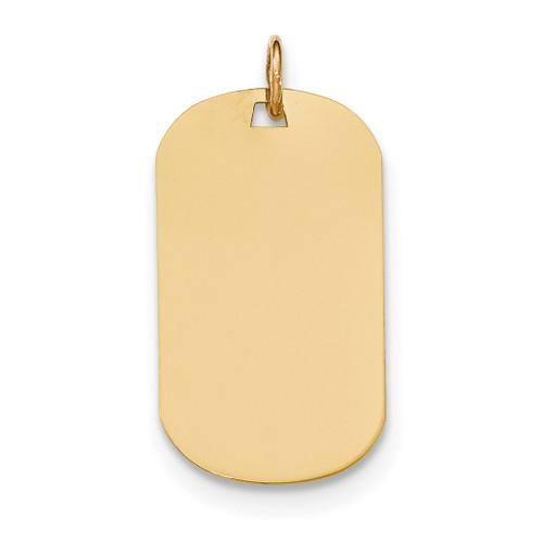 0.035 Gauge Engravable Dog Tag Disc Charm 14k Gold Plain XM553/35