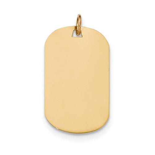 0.035 Gauge Engravable Dog Tag Disc Charm 14k Gold Plain XM554/35