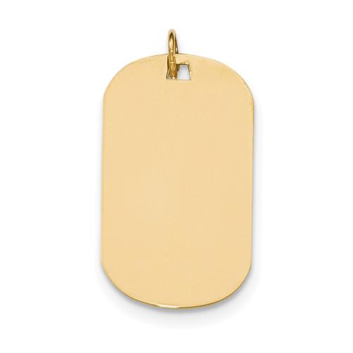 0.035 Gauge Engravable Dog Tag Disc Charm 14k Gold Plain XM555/35