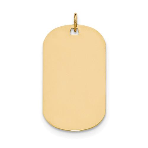 0.035 Gauge Engravable Dog Tag Disc Charm 14k Gold Plain XM556/35
