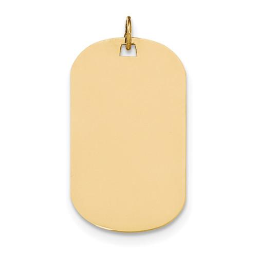 0.035 Gauge Engravable Dog Tag Disc Charm 14k Gold Plain XM557/35