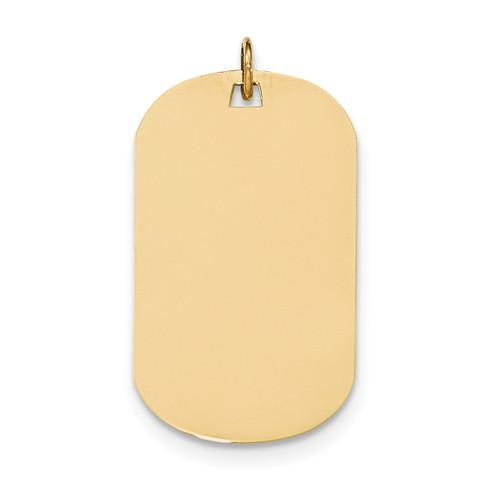 0.035 Gauge Engravable Dog Tag Disc Charm 14k Gold Plain XM558/35